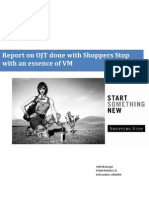 Shoppers Stop Report on On job training