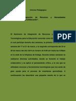 informe pedagogicod