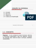 Organizacao e Gestao Empresarial