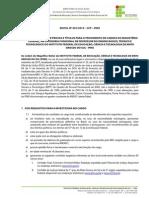 Concurso Publico Edital No 001 2014 Edital No 001 2014 Abertura