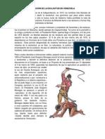 ABOLICIÓN DE LA ESCLAVITUD EN VENEZUELA