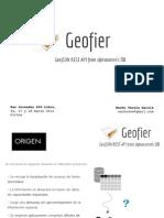 Geofier - Presentación Girona 2014