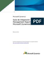 Microsoft Dynamics AX - Guía de integración de Management Reporter