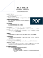 Bolas Criollas Condiciones 2011