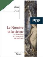 Quentin Meillassoux Le Nombre Et La Sirene Un Dechiffrage Du Coup de Des de Mallarme 1