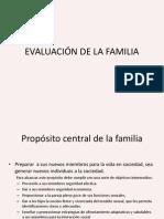 EVALUACIÓN DE LA FAMILIA