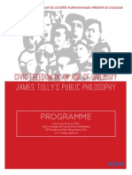 """Programme du colloque """"Civic Freedom in an age of Diversity"""