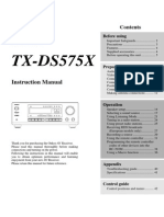 ONKYO AV Receiver TX-ds575x_manual_e