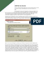 Windows Server 2003 de Fax Servisi
