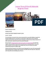 Single Women Travel Greek Islands Aegean Tour