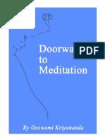 Doorways to Meditation - Goswami Kriyananda