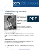 20 Proofreading Tips From Hemingway