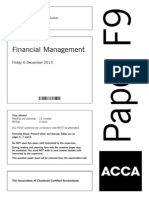 acca F9 dec 13 questions