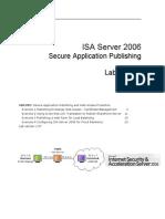 ISA Server 2006 Lab Manual (Version 3.0f) - HOL392