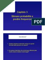 3 - Stimare probabilità e predire frequenze