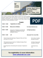 Genius for Sale! Conference Program UPDATED MARCH '14