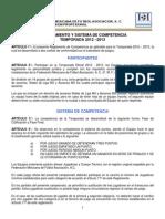 Reglamento Tercera Division 2012 2013