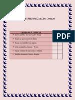 instrumento lista de cotejo