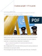 'Victory for Sri Lankan People' UN to Probe 'War Crimes'