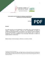 ACOLHIMENTO INSTITUCIONAL DE CRIANÇAS E ADOLESCENTES MUDANÇAS NA HISTÓRIA BRASILEIRA