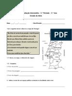 Ficha Avaliação Intermédia 3º Período - EM - 3º ano