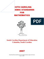 2007 Mathematics Standards