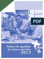Politica Igualdad Genero Ina