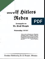 Boepple, Ernst - Adolf Hitlers Reden (1933)