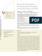 2014 Precarious Employment Understanding an Emerging Social Determinant of Health