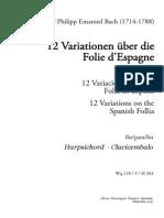 CPE-Bach-12 Variationen Ber Die Folie d Espagne