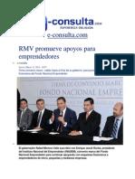 13-03-2014 e-consulta.com - RMV promueve apoyos para emprendedores.