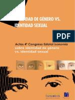 estetica ERNEST ALCOBA. Actas 4º Congreso Estatal FIIO sobre Identidad de género vs. Identidad Sexual.
