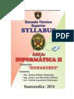 Silabo Taller Informatica II - Desarrollado