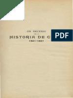 Un Decenio de La Historia de Chile (1841-1851) T.I. 1906