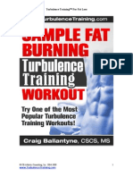Sample Fat Burning Workout