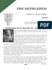 Bethlehem Newsletter_April 2014