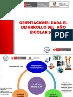 Orientaciones para el Desarrollo del año Escolar 2014