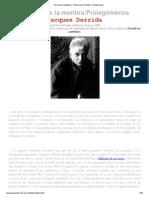 Derrida - Historia de la mentira_ Prolegómenos