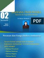 PPt 3 Kedudukan Dan Fungsi Bhs. Indonesia
