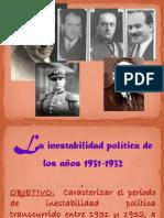 5. LA INESTABILIDAD POLÍTICA DE 1931 Y 1932
