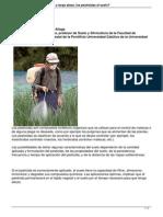 ¿Cómo pueden dañar, a corto y largo plazo, los pesticidas al suelo-