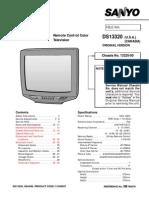 Sanyo Ds13320 Service Manual