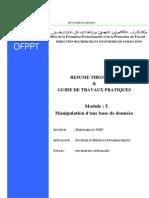 M04 - Manipulation d'une  base de données TER-TSC