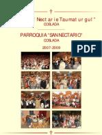 Folleto de presentacion de la parroquia, en rumano y espanol