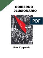 El Gobierno Revolucionario, De Piotr Kropotkin