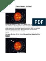 Apa Perbedaan Planet Dengan Bintang