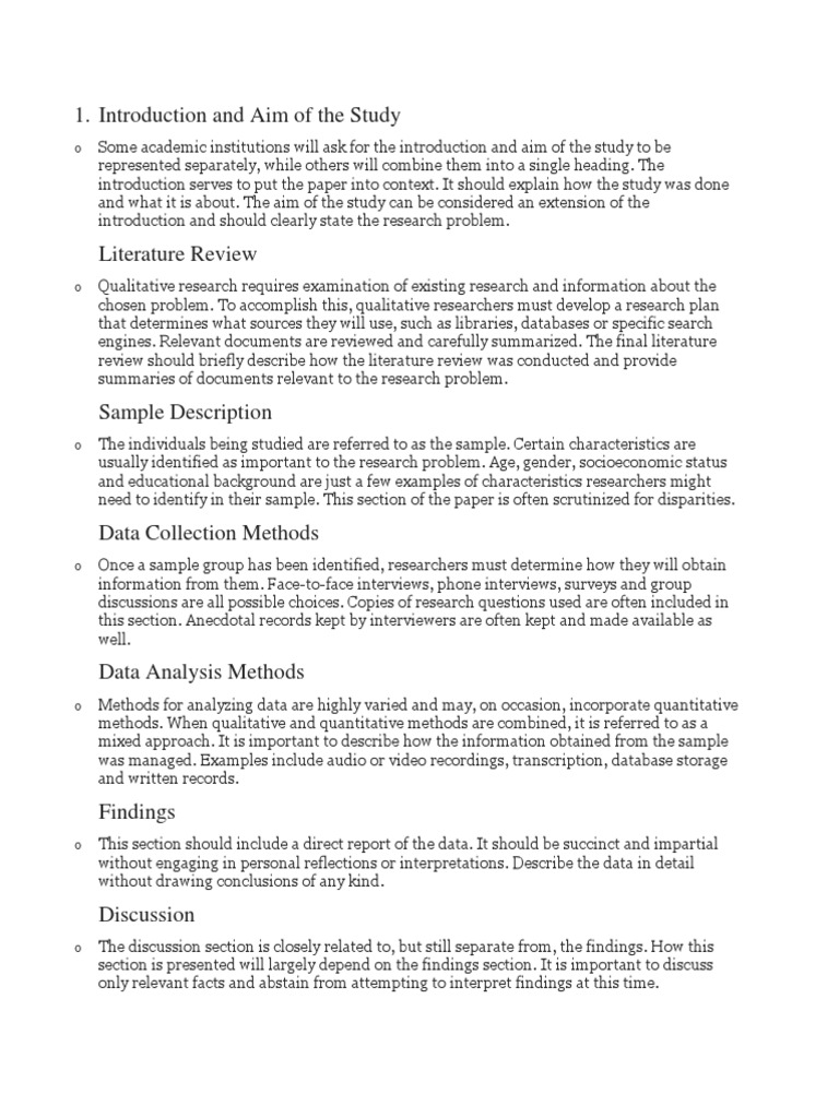parts of qualitative research paper qualitative research