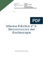 Informe Practica 4 - Sincronizacion del Osciloscopio