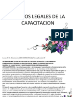 Aspectos Legales de La Capacitacion
