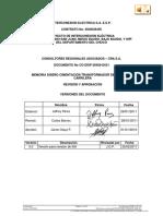 1. CO-DISP-36456-D631 Memoria Diseño cimentación Transformador de Potencia y Carrilera V 0.0